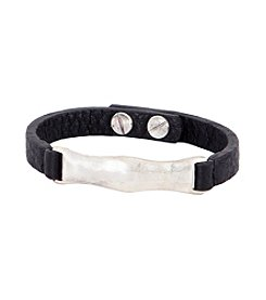 The Sak® Black/Silvertone Organic ID Leather Bracelet