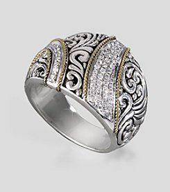 Effy® Balissima Collection Sterling and 18K Ring with .29 ct. t.w. Diamonds