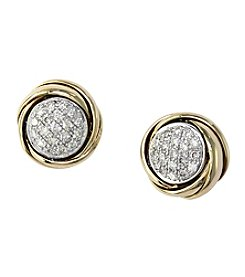 Effy® .24 ct. t.w. Diamond Earrings in 14K Two Tone Gold