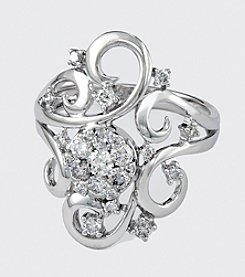 Effy® Bouquet Collection White Gold .70 ct. t.w. Diamond Ring