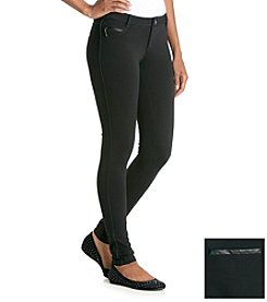 Boom Boom Faux Leather Piping Ponte Leggings