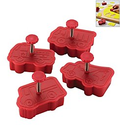 Cake Boss® Decorating Tools 4-pc. Red Work Truck Fondant Press Set