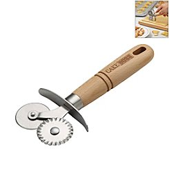 Cake Boss® Stainless Steel Double Pastry Wheel with Wood Grip