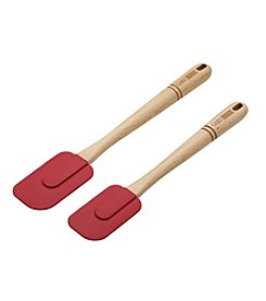 Cake Boss® Wooden Tools and Gadgets 2-pc. Red Silicone Spatula Set
