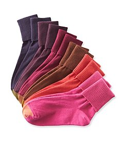 GOLD TOE® Women's 6-Pack Ribbed Turn Cuff Socks