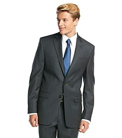 Lauren Ralph Lauren Men's Big & Tall Charcoal Solid Suit Separates