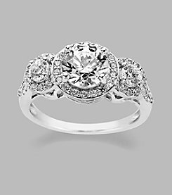 Balentino® Sterling Silver Ring Made With Swarovski® Cubic Zirconia Elements