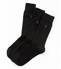 Polo Ralph Lauren® Men's 3-Pack Flat Knit Socks