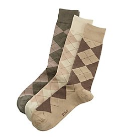 Polo Ralph Lauren® 3-Pack Men's Classic Argyle Socks