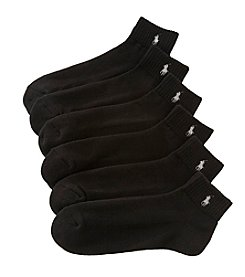 Polo Ralph Lauren Men's 6-Pack Rib Cuff Quarter Socks