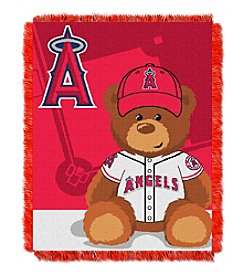 MLB® Los Angeles Angels Teddy Bear Baby Jacquard Throw