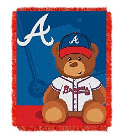 MLB® Atlanta Braves Teddy Bear Baby Jacquard Throw