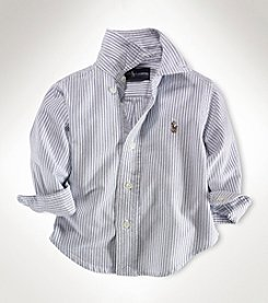 Ralph Lauren® Baby Boys' Blue Striped Oxford Shirt