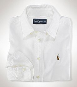 Polo Ralph Lauren® Boys' 2T-7 Long Sleeve Solid Oxford Shirt