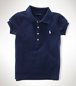 Polo Ralph Lauren® Girls' 2T-16 Short Sleeve Mesh Polo