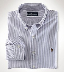 Ralph Lauren Boys' 4-14 Long Sleeve Striped Oxford Shirt