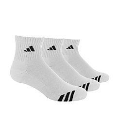 adidas® Men's 3-Pack Climalite Cushioned Quarter Socks