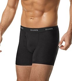 Hanes® Men's Black and Gray 4-Pack Stretch Boxer Briefs