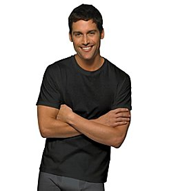 Hanes® Men's Black/Gray 3-Pack Traditional Fit Crewneck T-shirt