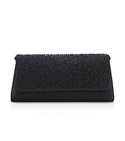 La Regale® Beaded Satin Flap Clutch