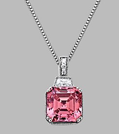 Balentino® Sterling Silver Pendant Made With Swarovski® Cubic Zirconia
