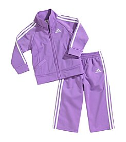 adidas® Baby Girls' 2 Piece Tricot Athletic Outfit Set