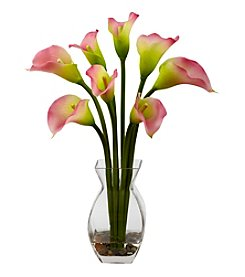 Nearly Natural® Classic Calla Lily Arrangement