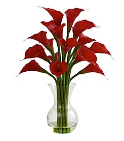Nearly Natural® Calla Lily with Vase Arrangement