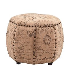 Madison Park® Brianna Octagon Tufted Ottoman