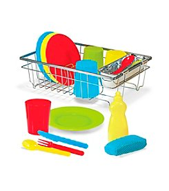 Melissa & Doug® Let's Play House! Wash and Dry Dish Set