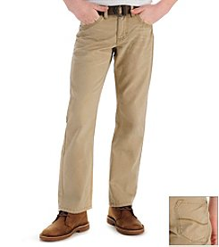 Lee® Boys' 8-18 Bobcat Khaki Slim Straight Belted Jeans