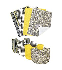 Trend Lab Hello Sunshine 8-pk. Bib and Burp Cloth Bouquet Set