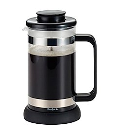 BonJour® Coffee and Tea 8-Cup Black Riviera French Press with Coaster and Scoop