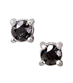 Designs by FMC Sterling Silver 0.5 ct. t.w. Black Diamond Stud Earrings Boxed