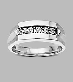 Sterling Silver Men's 0.03 ct. t.w. Diamond Ring