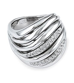 Effy® 0.16 ct. t.w. Diamond Ring in Sterling Silver