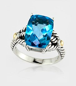 Effy® Blue Topaz Ring in Sterling Silver and 18K Gold