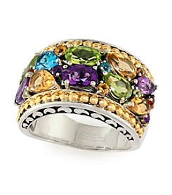 Effy® Multi Gem Ring in Sterling Silver and 18K Gold