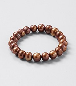 Genuine Chocolate Color Freshwater Pearl Stretch Bracelet