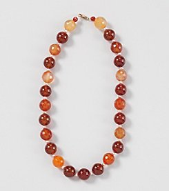 Genuine Tonal Large Carnelian Round Beads 18