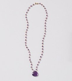 Faceted Amethyst Linked Necklace with Amethyst Briolette