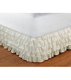 Greenland Home® Multi-Ruffle White Bed Skirt