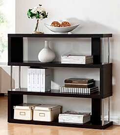 Baxton Studios Barnes Dark Brown 3-Shelf Modern Bookcase