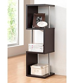 Baxton Studios 3-Tier Lindy Dark Brown Modern Display Shelf