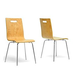 Baxton Studios Set of 2 Stockholm Modern Dining Chairs
