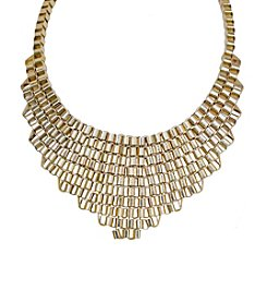 Gold Triangle Shaped Necklace