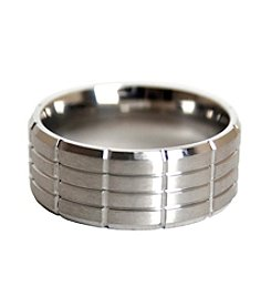 Men's Satin Finish Stainless Steel Ring