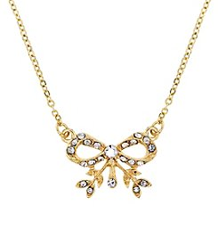 Downton Abbey® Goldtone Crystal Edwardian Bow Necklace 16