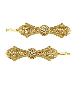 Downton Abbey® Goldtone Classic Edwardian Bow Shaped Bobby Pins