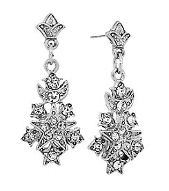 Downton Abbey® Silvertone Belle Epoch Starburst Drop Earrings